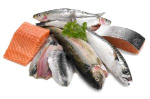 picture showing a selection of oily fish